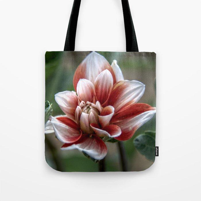 Unfurling flower Tote Bag
