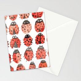 ladybug pattern Stationery Cards