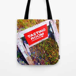 Tasting Room Sign At Ani Che Cellars Tote Bag