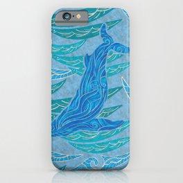 Watercolor Whale Dive iPhone Case