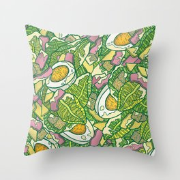 Ceasar Salad Throw Pillow