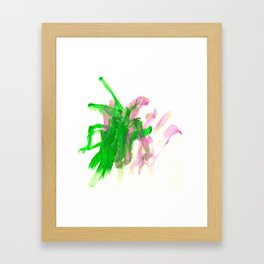 First paint abstract by Keira Framed Art Print