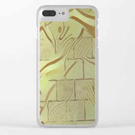 Walled Wild Pattern Clear iPhone Case