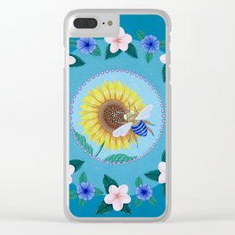 Australian Spring Mandala Clear iPhone Case