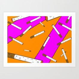 Cigarette Daydreams Art Print