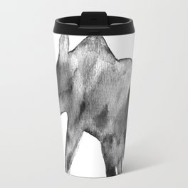 Baby elephant, black and white Travel Mug