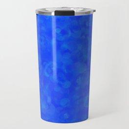 Cobalt Blue Cloud Texture Travel Mug