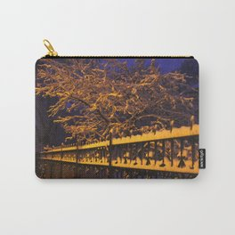 Chicago in Snow: Branches and Fences (Chicago Winter Collection) Carry-All Pouch