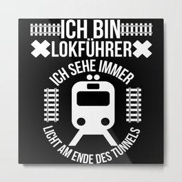 Train Driver Gift Metal Print