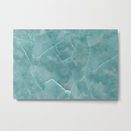 Ice Green Marble Metal Print