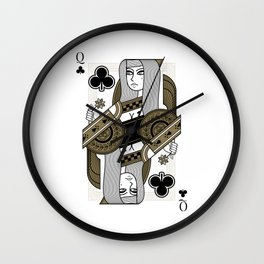 Omnia Oscura Queen of Clubs Wall Clock