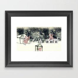 The three little pigs (ANALOG zine) Framed Art Print