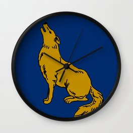 The Golden Coyote Wall Clock