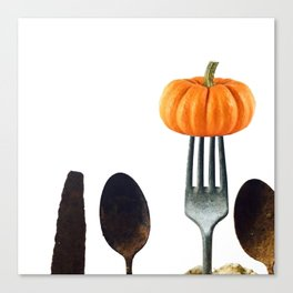 Eat Healthy with Pumpkin Canvas Print
