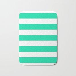Asda Green (1985) - solid color - white stripes pattern Bath Mat