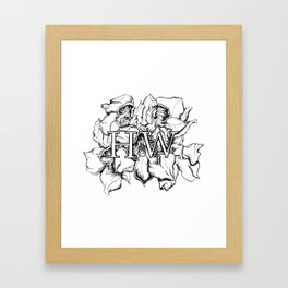 """""""HW"""" Drawing Framed Art Print"""