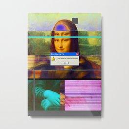 Mona Lisa _corrupt Metal Print