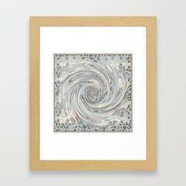 GRAY SAFARI FLOW Framed Art Print