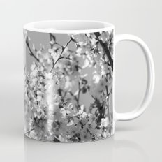 Spring Floral Black and White Mug