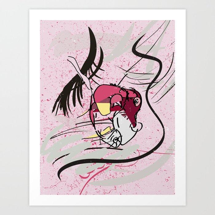 80s Heart Art Print