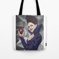 ouat Tote Bags featuring Regina - OUAT by aesthetic_vampy