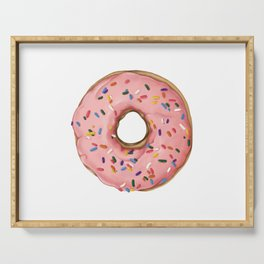 Strawberry Frosted Doughnut with Sprinkles Serving Tray