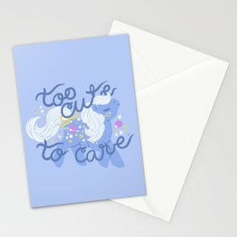 too cute to care Stationery Cards