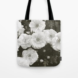 Floral in Black and White Tote Bag