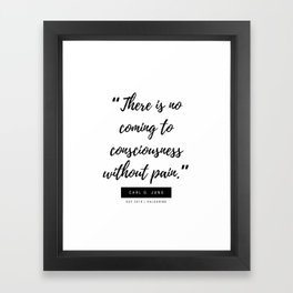 3 | Carl Gustav Jung Quotes| 190626 Framed Art Print