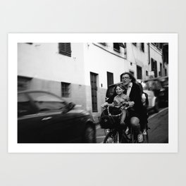 The Bike Ride Art Print