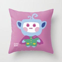 """""""Super Mona"""" Throw Pillow"""