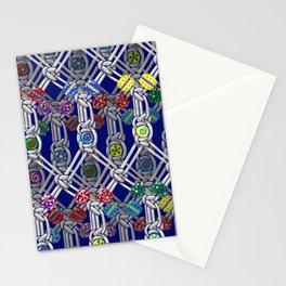 1970s Retro Macrame Pattern Stationery Cards