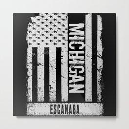 Escanaba Michigan Metal Print