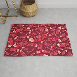 """""""Strawberry feather pattern"""" Rug"""