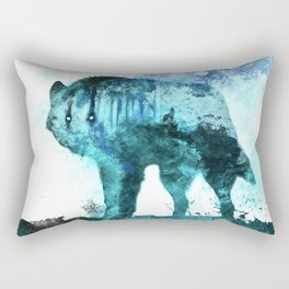 Double Exposure Wolf / Full Moon Wolves / Dark Forest Witch / Galaxy Space Wolf Rectangular Pillow