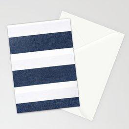 Nautical Blue & White Stripes Stationery Cards