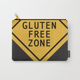 Gluten Free Zone in black Carry-All Pouch