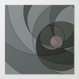 Grey Spiral Sunset Canvas Print