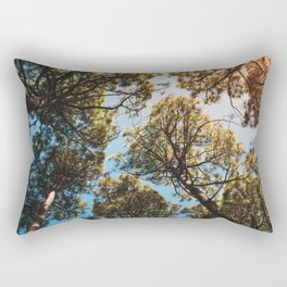 Trees and sky in sunlight- forest landscape - nature photography Rectangular Pillow