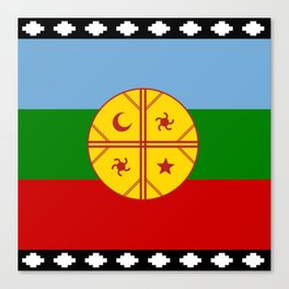 Flag of Mapuche Canvas Print