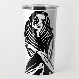 Woman with a tattoo Travel Mug