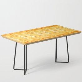 Satin Shibori Yellow Coffee Table