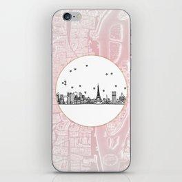 Paris, France, France, Europe City Skyline Illustration Drawing iPhone Skin