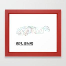Boyne Highlands, MI - Minimalist Trail Art Framed Art Print
