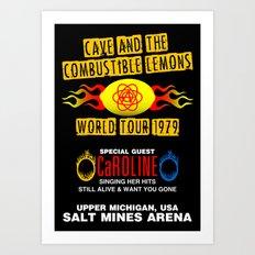 Cave & The Combustible Lemons Art Print