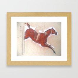 Horse Show 3 - The Jumping Horse Framed Art Print