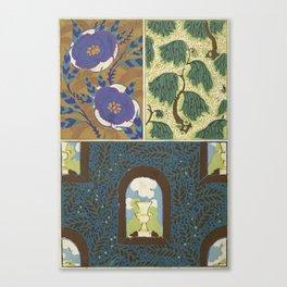 Art Deco vintage pattern Canvas Print