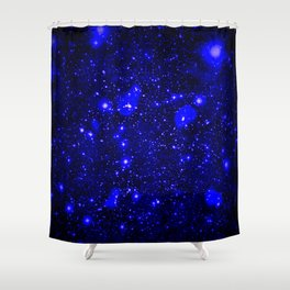 Dark Matter Galaxy Blue Shower Curtain