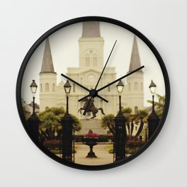 New Orleans Looking Through Jackson Square Wall Clock