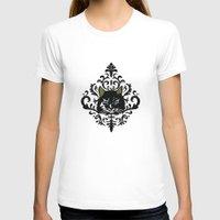 damask T-shirts featuring cat damask by Andi Bird